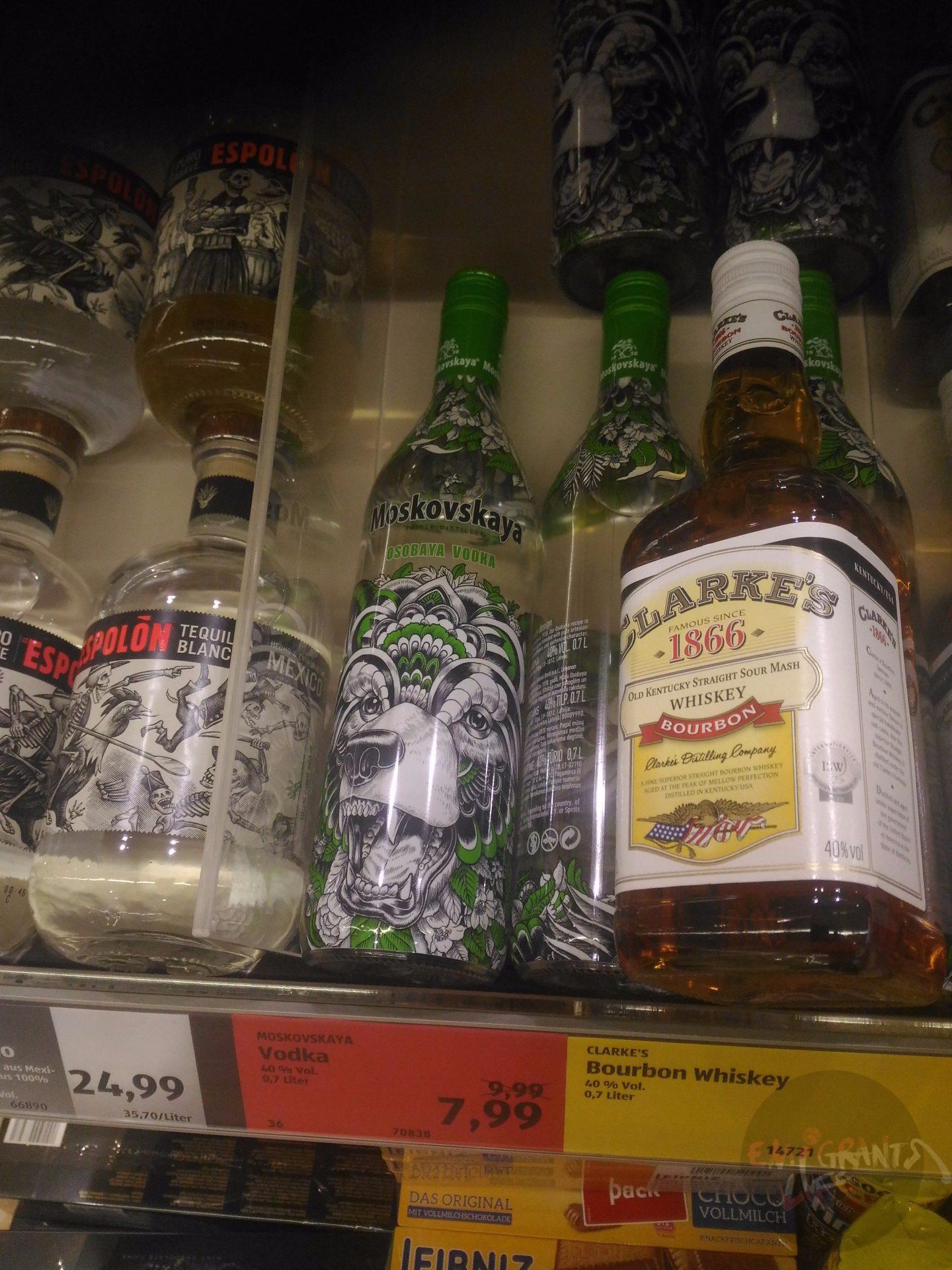 Moskovskaya водка — das ist gut