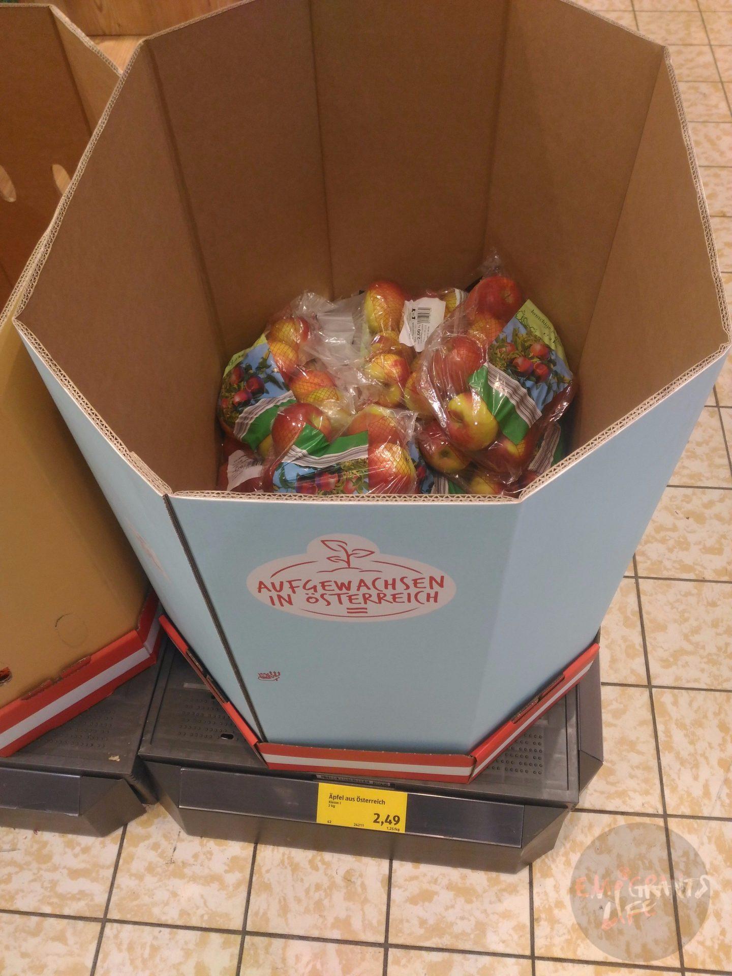 Яблоки без акции — упаковка 2 кг.