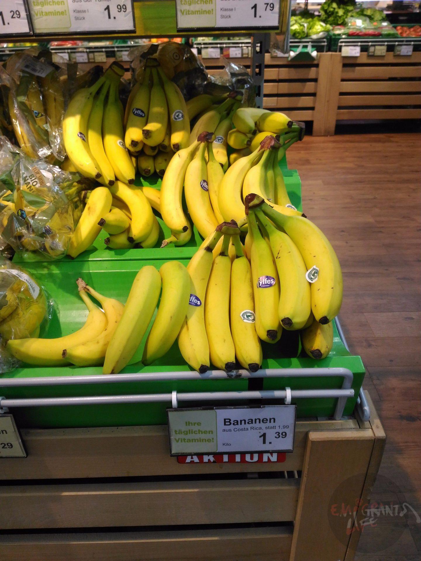 Бананы в Австрии дороже, чем России
