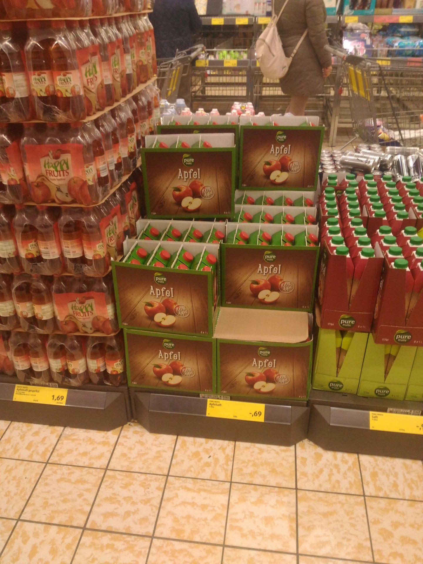 А яблочный сок — дешевле