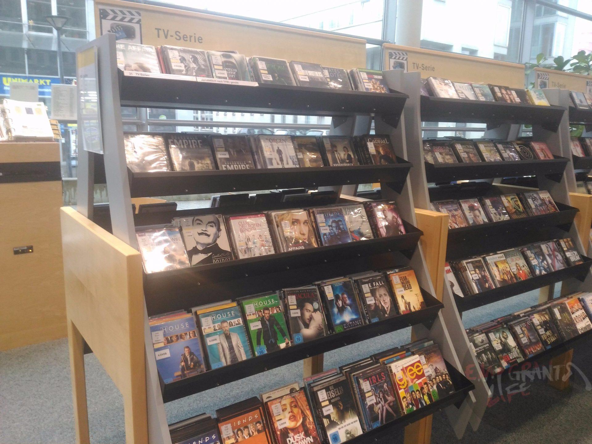 Раздел сериалов в библиотеке