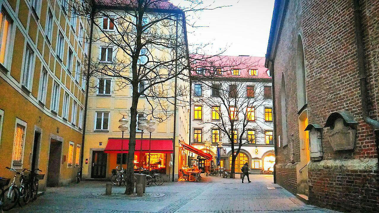 Frauenplatz, Мюнхен, Германия. Январь, 2018