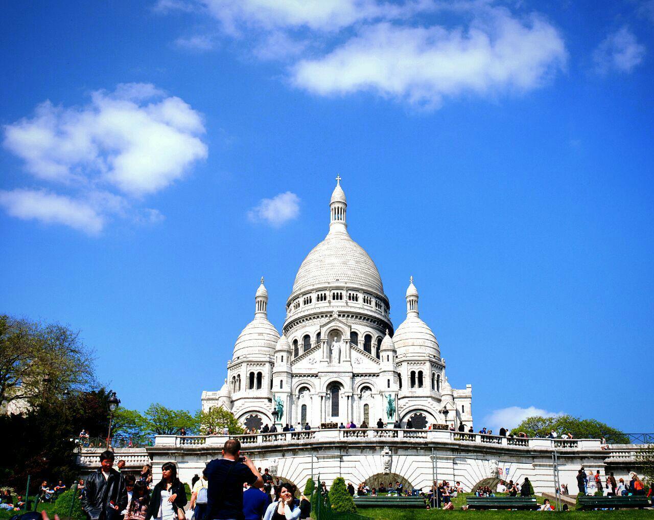 Базилика Сакре-Кёр, Париж, Франция. Апрель, 2011