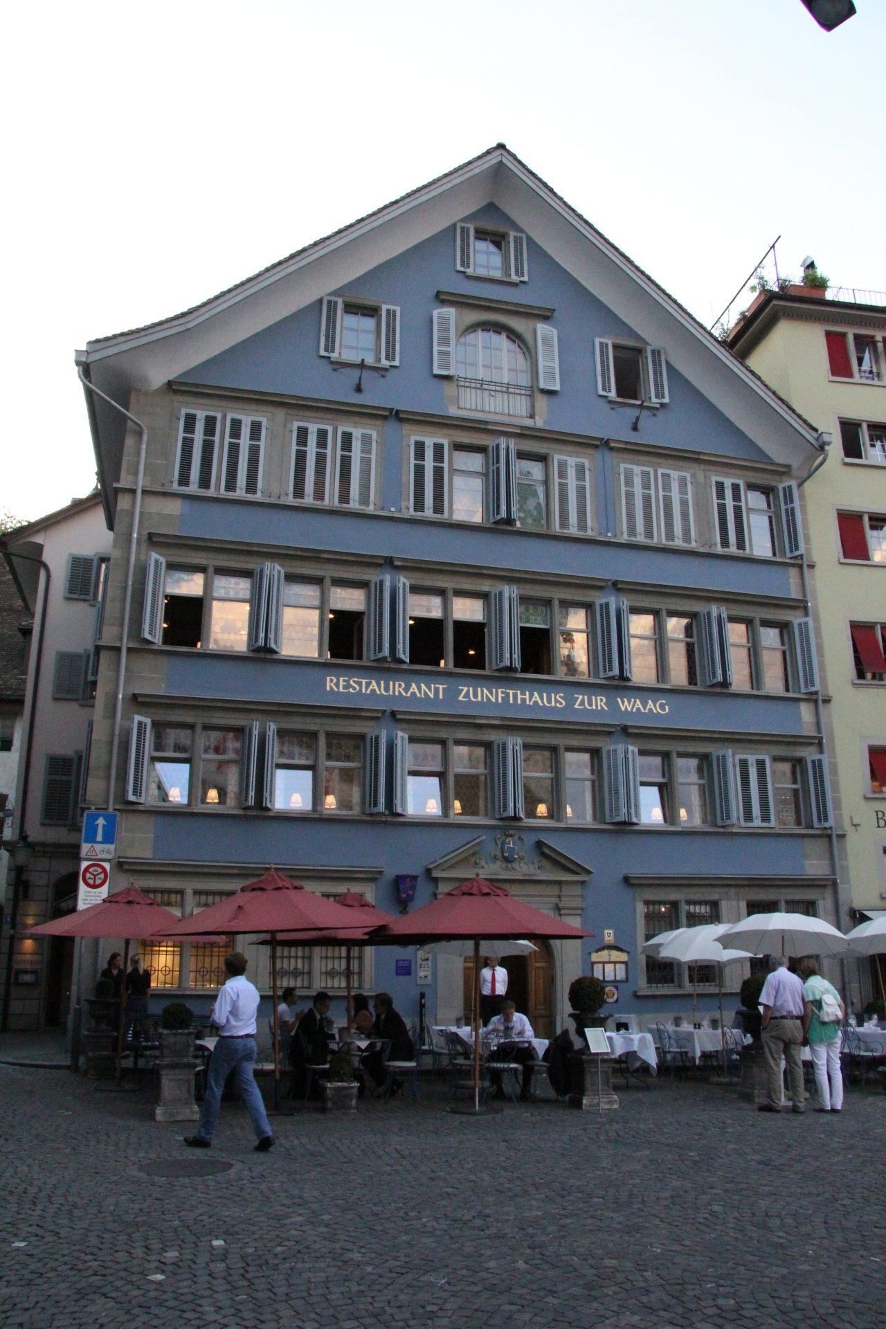 Дом Гильдий Zunfthaus zur Waag, Цюрих, Швейцария. Июль, 2012