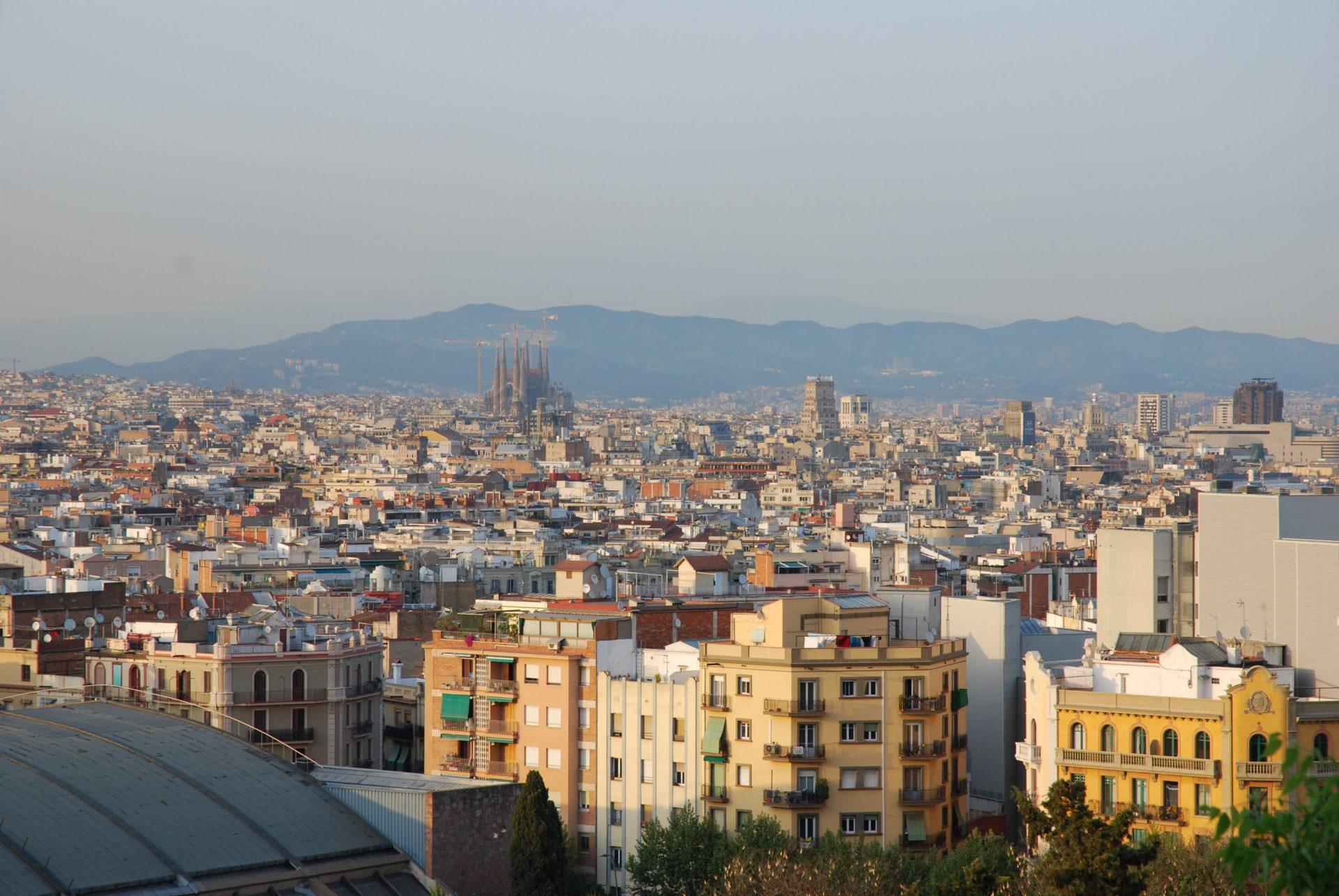 Вид на город, Барселона, Испания. Апрель, 2011