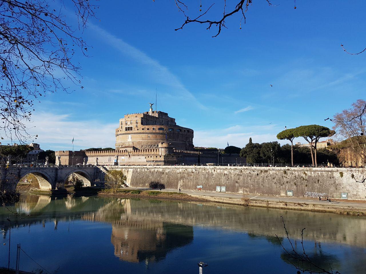Замок Святого Ангела, Рим, Италия. Январь, 2019