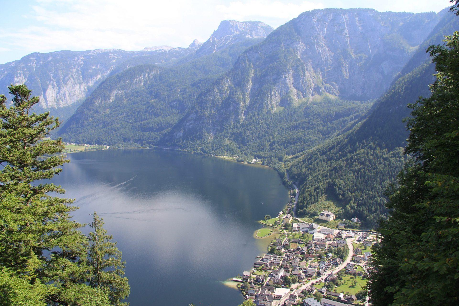 Озеро Хальштаттер Зее, Зальцкаммергут, Австрия, Август, 2017