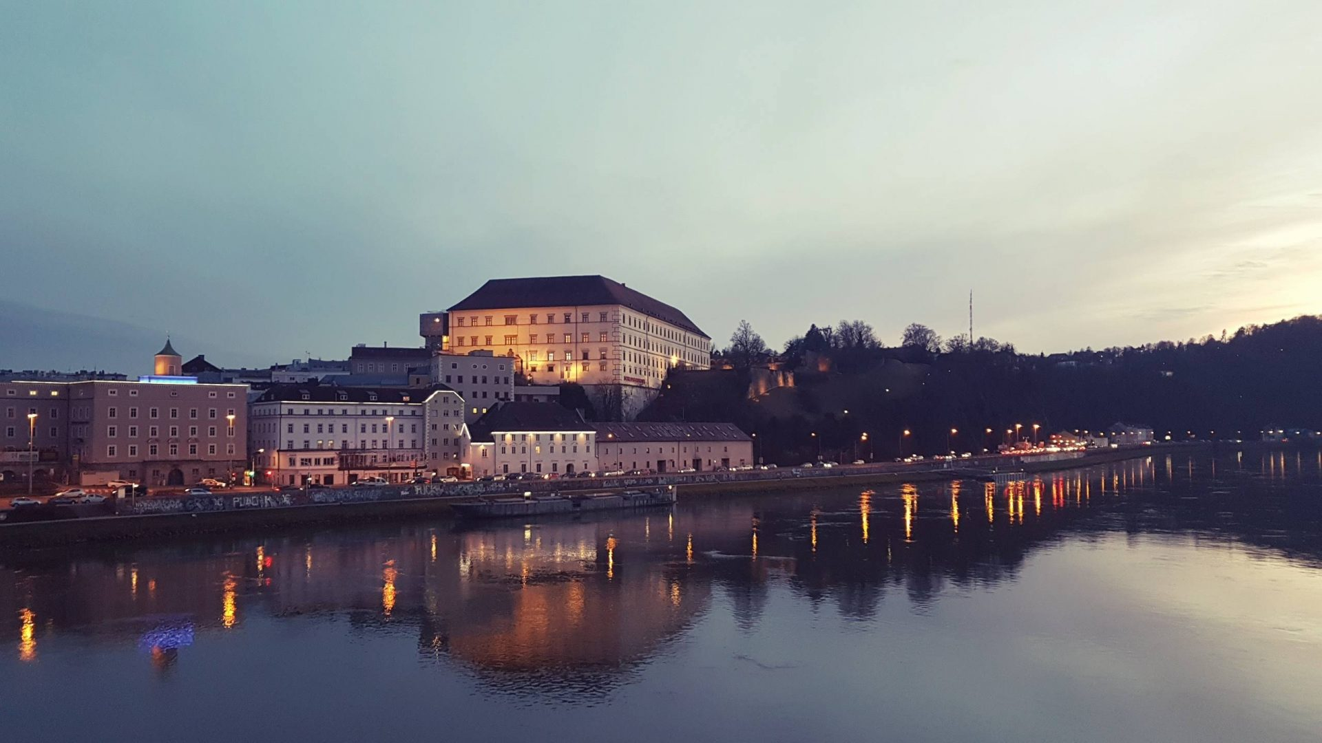 Замок Линца (Linzer Schloss) в Австрии.