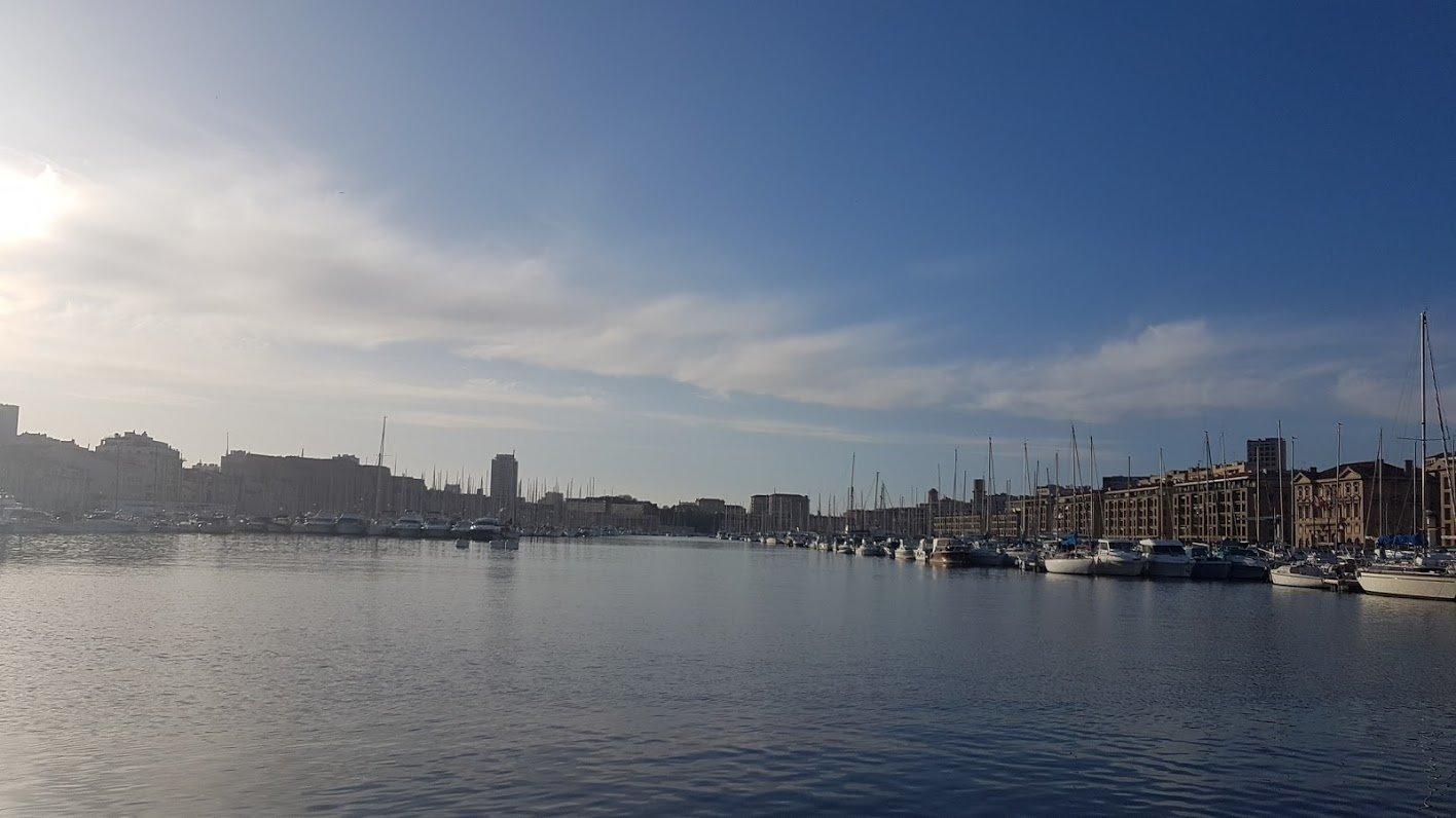 Лионский залив, Марсель, Франция. Январь, 2018