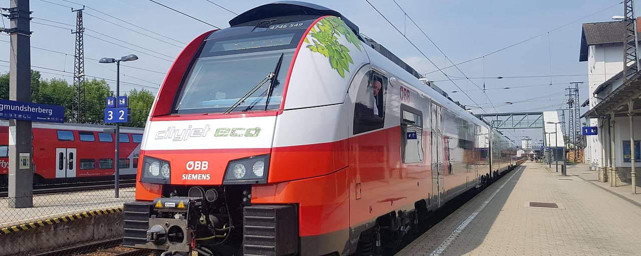 В Австрии начал тестовый прогон поезд на аккумуляторах