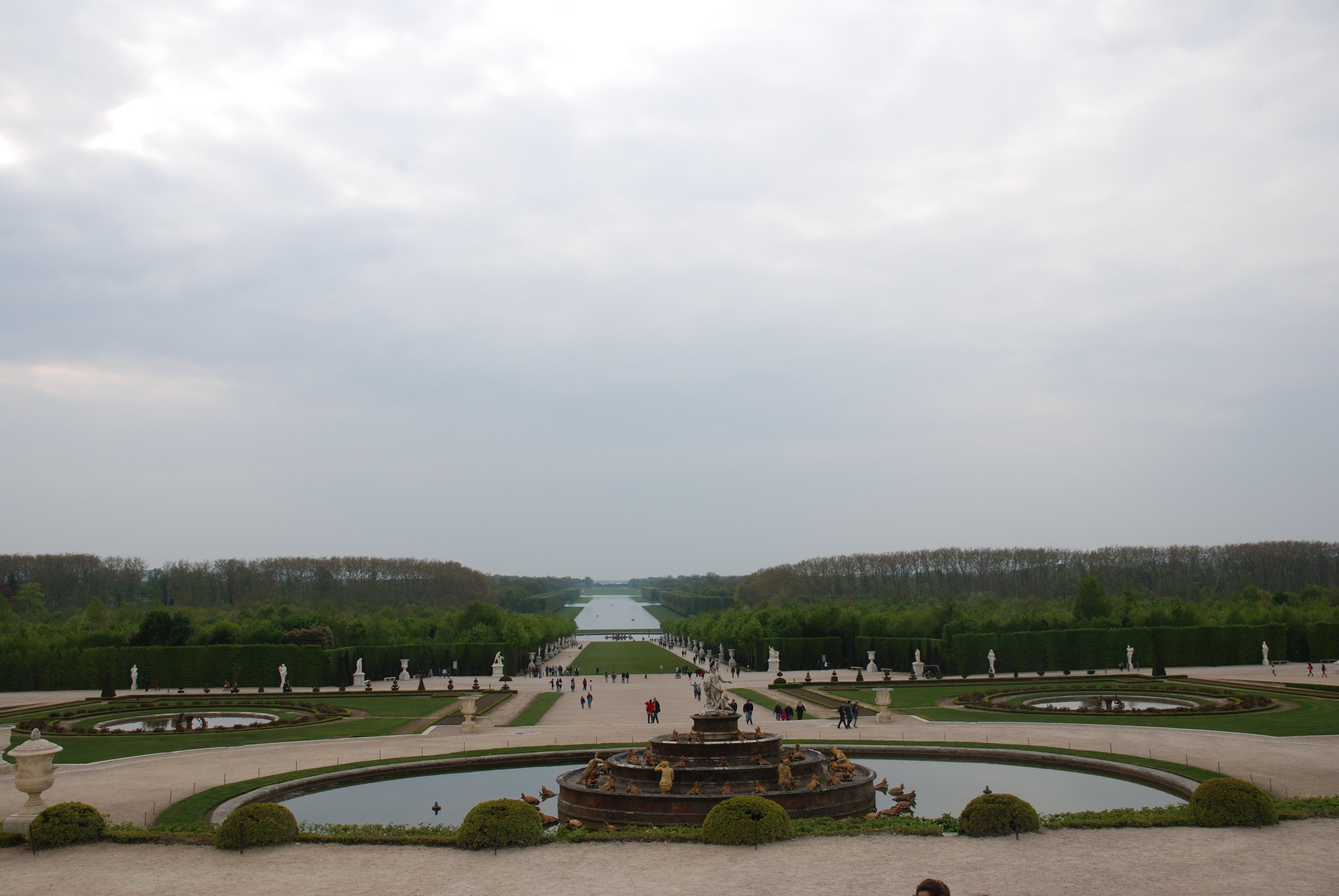 Регулярный парк, Версаль, Франция. Апрель, 2011