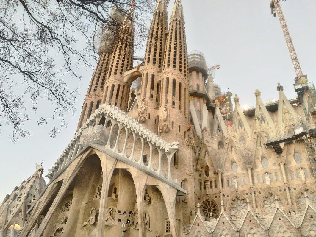 Саграда-Фамилия, Барселона, Испания. Январь, 2018