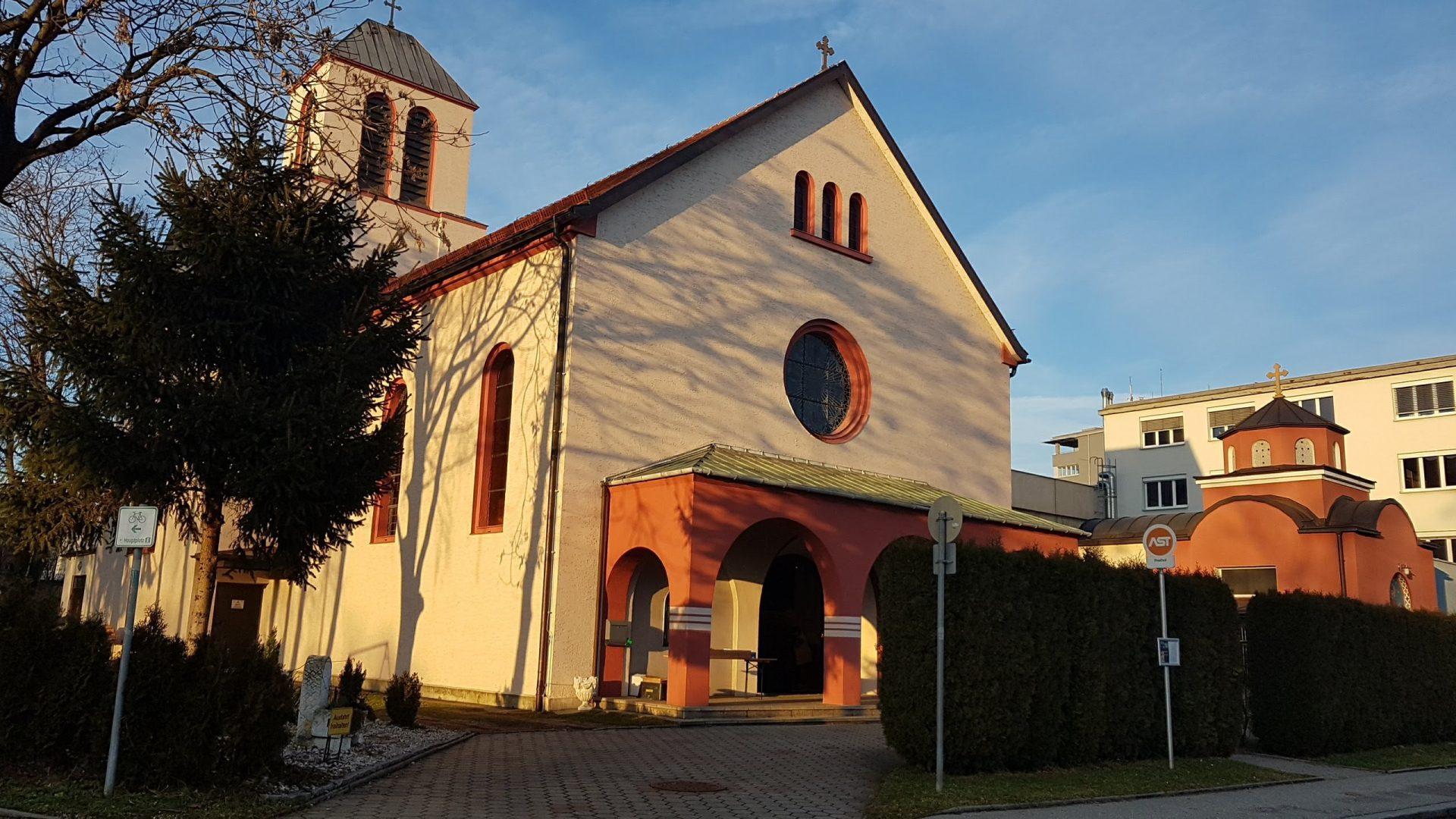 Церковь Василия Острожского, Линц, Австрия. Январь, 2018