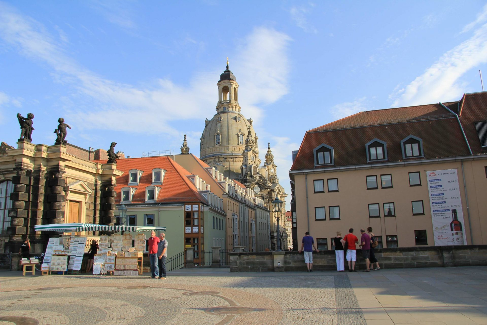 Фрауэнкирхе, Дрезден Германия, Июль, 2013