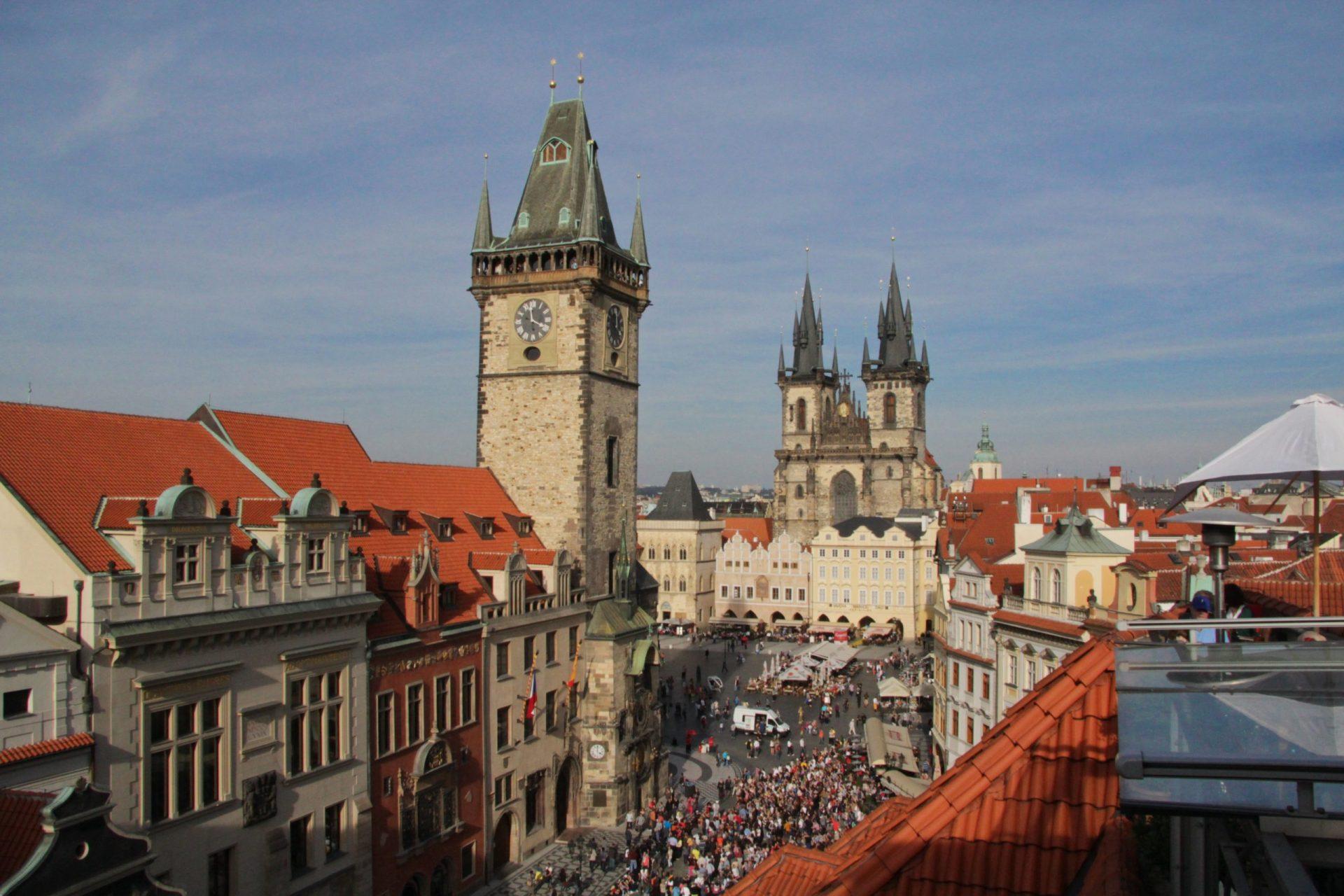 Староместская площадь, Прага, Чехия. Сентябрь, 2014