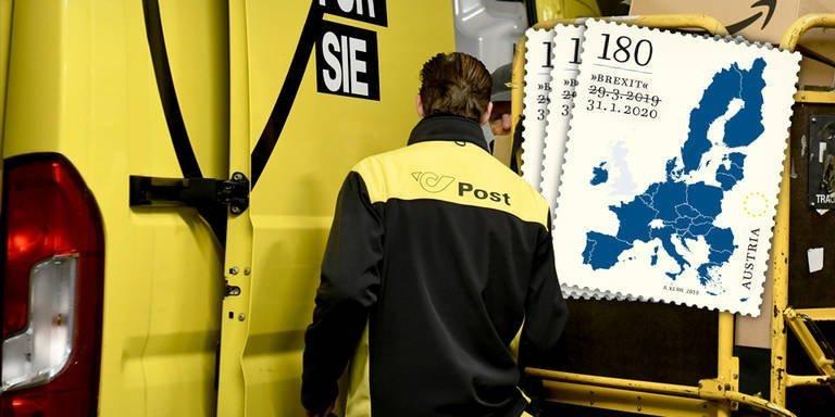 В Австрии перепечатана специальная почтовая марка об брексите