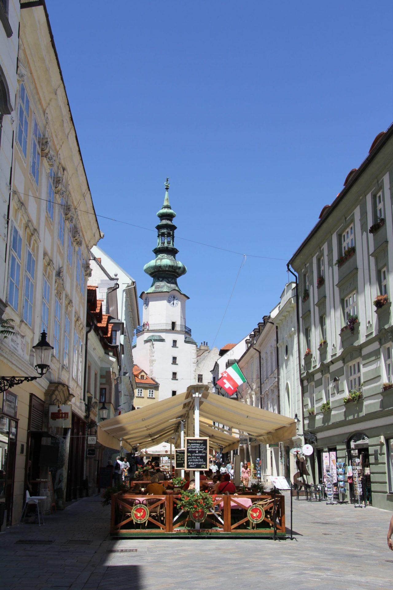 Михайловские ворота, Братислава, Словакия. Июль, 2013