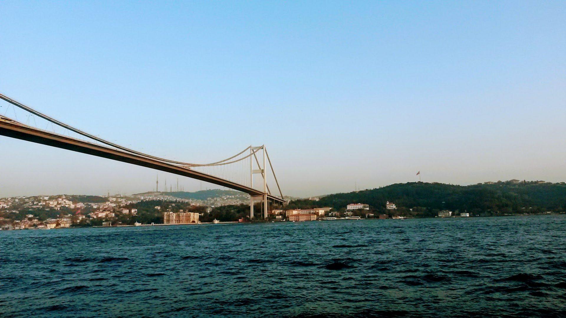 Мост Мучеников 15 Июля, Стамбул, Турция. Сентябрь, 2014