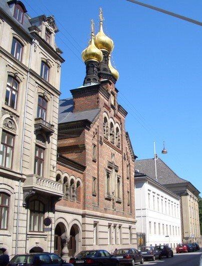 Церковь Александра Невского, Копенгаген, Дания. Июль, 2005